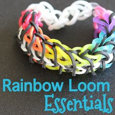 What is a Rainbow Loom and what can I make with it? Learn this and more with my Rainbow Loom Essentials Guide. Rainbow Loom Patterns, Rainbow Loom Creations, Rubber Band Crafts, Rubber Bands, Wonder Loom, Loom Love, Crafts For Kids, Activities For Kids, Rubber Band Bracelet