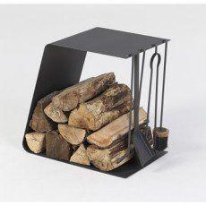 Serviteur et rangement pour bois acier noir ATELIER DIX NEUF Twin