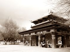 The historical corner in Tibet
