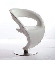 On Sale Now! Modrest Alya Modern White Leatherette Lounge Chair
