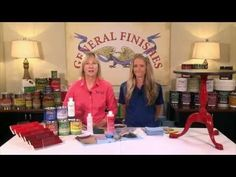 How To Glaze A Table With General Finishes Glaze Effects - YouTube