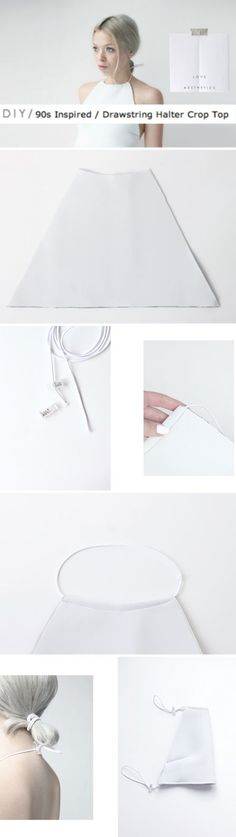 DIY 90's Halter from >> http://love-aesthetics.blogspot.com.au /01 Cut a…