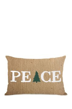 Peace Tree Paper Zippered Pillow - Brown on @HauteLook