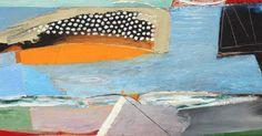 Matthew Lanyon Three Suns,  oil on board  h. 32 x w. 125 cm