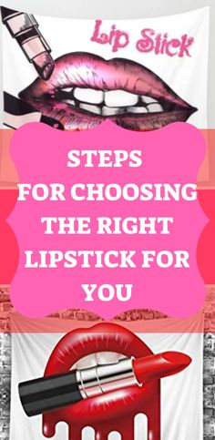Steps for Choosing the Right Lipstick for You - My Healthy Life Hack Makeup Tips, Beauty Makeup, Hair Beauty, Beauty Secrets, Beauty Hacks, Beauty Tips, Healthy Hair, Healthy Life, Eco Beauty