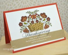 Folk Thanksgiving Card by Nichole Heady for Papertrey Ink (August 2013)