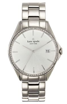 kate spade new york 'seaport grand' crystal bracelet watch, 38mm available at #Nordstrom