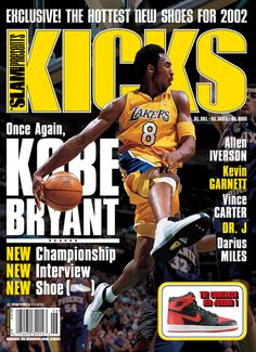 SLAM Presents KICKS 4: Los Angeles Laker Kobe Bryant appeared on the cover of the fourth issue of KICKS Magazine (2001).