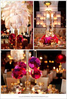 Feather wedding decor