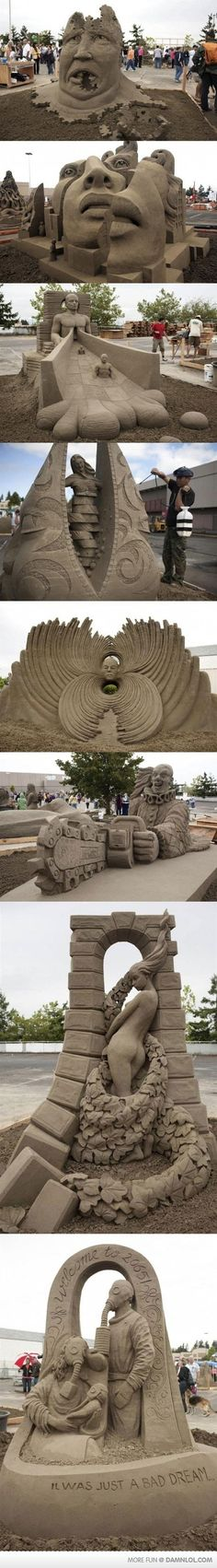 my sand castles never looked like this... I cant even flip the bucket upside-down with out screwing up!