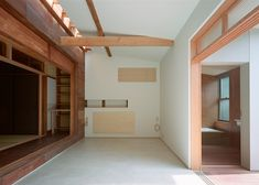 A traditional Japanese house preserved over the years - a blend of modern design and original form and material