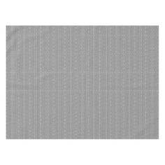 Custom Abstract Gray Silver Floral Pattern Tablecloth