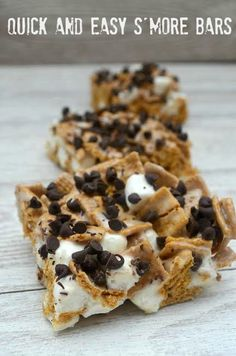 Quick and Easy S'more Bars - Tales of a Ranting Ginger