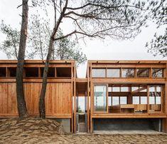 Pine Park Pavilion - DnA Design and Architecture Architecture Design, Pavilion Architecture, Residential Architecture, Contemporary Architecture, Contemporary Homes, Organic Architecture, Timber Architecture, Chinese Architecture, Architecture Office