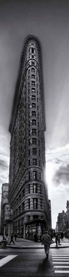 """The Flatiron Building (or Fuller Building, as it was originally called) is located at 175 Fifth Avenue in the borough of Manhattan, New York City and is considered to be a groundbreaking skyscraper…"" ☛ http://en.wikipedia.org/wiki/Flatiron_Building • photo: Trey Ratcliff on stuckincustoms"