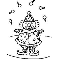 clown juggling coloring sheet