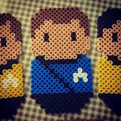 """Pärlplatte-alfabets-Star Trek, L: Leonard McCoy, doktor på USS Enterprise NCC-1701. Även Jim Kirks """"vän, personlige bartender, förtrogne, kurator och präst"""". Flitig catchfraseanvändare. Star Trek (1966-1969), Star Trek: The Animated Series (1973-1974) och åtta långfilmer (1979-2013)."""