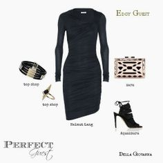 Designer @Della Giovanna styles this edgy wedding guest outfit for @Aisle Perfect