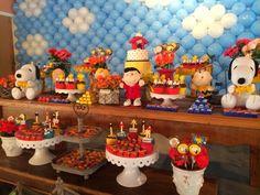decoração festa infantil snoopy - Pesquisa Google
