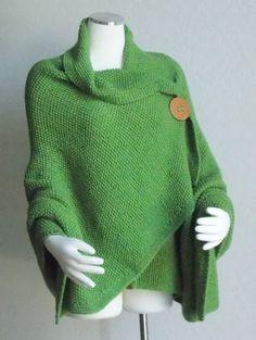 Hand Knit Shawl   Cape  Wrap  Plus Size by woodlandhandmaidens, $110.00