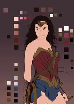Last part of my Batman vs Superman vector series. Really love how Gal Gadot portrayed Wonder Woman in the movie. And I just had to make a vector portrait of her.