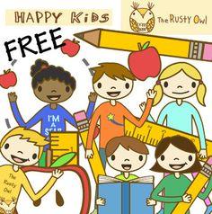 Happy Kids Clip art Free