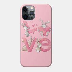 Bunny Love - Bunny Love - Phone Case | TeePublic Unique Iphone Cases, Smartphone, Bunny, Invitations, Design, Cute Bunny, Rabbit, Save The Date Invitations