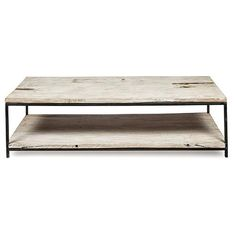 Byron Rectangular Coffee Table With Metal Legs