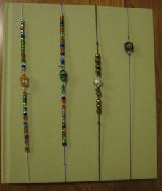 Elastic bookmarks with beads - Bookmarks by Jen