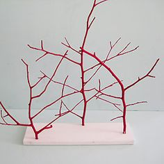 DIY - Painted Branch Sculpture with Acrylic Paint Tutorial