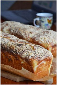 Healthy Bread Recipes, Baking Recipes, Cake Recipes, Dessert Recipes, Bread Bun, Bread Cake, Breakfast For Dinner, Breakfast Recipes, Sweets Cake