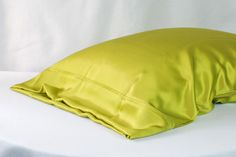 Citron Color 100% Pure Charmeuse Silk Pillowcase