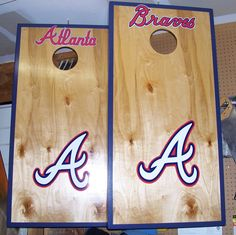 Atlanta Braves Cornhole Boards