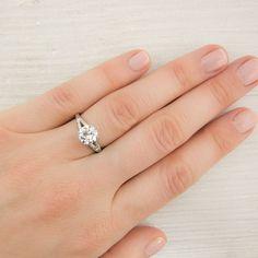 1.15 Carat Vintage Old European Cut Diamond Engagement Ring. $9,800.00, via Etsy.