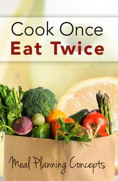 Cook Once, Eat Twice Meal Planning - save time and money. Great concept for me to remember! Budget Freezer Meals, Frugal Meals, Budget Recipes, College Recipes, Easy Meals, Budget Meal Planning, Cooking On A Budget, Cooking Tips, Gluten Free Menu