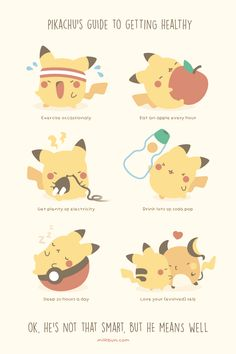 Pikachu's Guide to Getting Healthy.