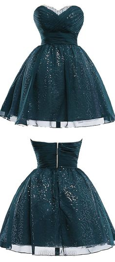Ball Gowns for Prom,Cheap Homecoming Dresses,Sweetheart Sequined Party Gowns,Chiffon Short/Mini Beading Classic Prom Dresses