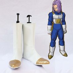Dragon Ball Z Vegeta Cosplay Shoes Boots White Hand by Coszone -
