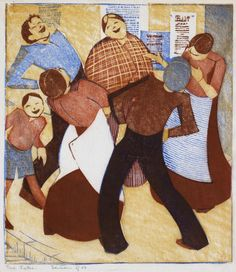 The Joke (1932) by Ethel Spowers (1890–1947), Australian - associated with the Grosvenor School of Modern Art in Britain (justcollecting)