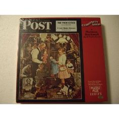 Springbok 500 Piece Puzzle -A Norman Rockwell April Fool's Cover - The Saturday Evening Post Curiosity Shop