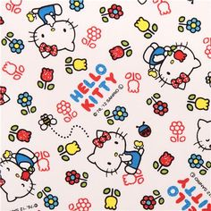 white Hello Kitty oxford fabric tulip flower by Sanrio from Japan
