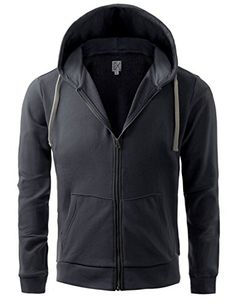 Men's Clothing - Regna X Basic Mens Full Zip Hoodie  Pull Over Sweatshirt *** Click image to review more details. (This is an Amazon affiliate link)