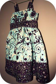 Playdate at Tiffany's  Knot Dress by nagibbs on Etsy, $34.00