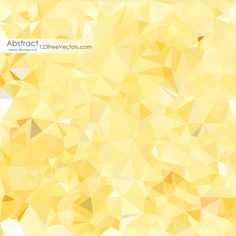 Yellow Low Poly Background Design