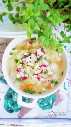 moja smaczna kuchnia: Zupa jarzynowa z chrupiacymi dodatkami