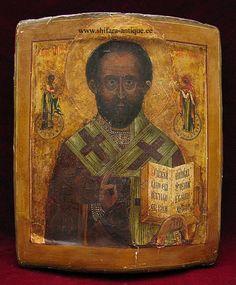 St Nicholas The Wonder Worker Russian Icon 20th century