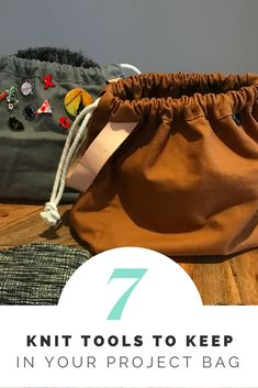 7 Things I Keep in My Project Bag — Yarns of Anarchy, knit crochet project bag notions tips