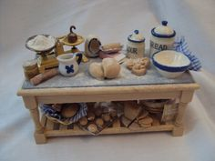 DOLLS+HOUSE+MINIATURES++Bread+for+thought+by+LittleHouseAtPriory,+$130.00