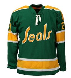 ac483432b California Golden Seals - Green away jersey