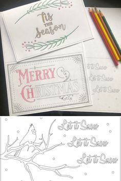 These free printable Christmas cards are perfect for sending to family and friends! They are beautiful and easy to decorate. Merry Christmas Card, Easy Christmas Crafts, Christmas Colors, Simple Christmas, Free Printable Christmas Cards, Printable Cards, Free Printables, To Color, Color Card